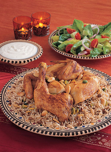 Roasted Chicken with Oriental Rice