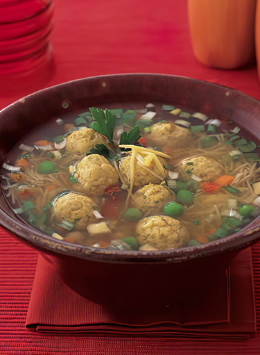 Curry Chicken Balls Soup