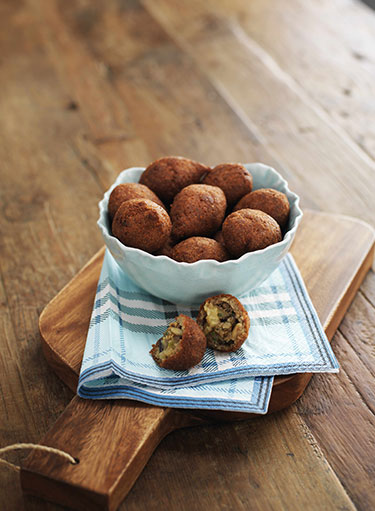 Kibbeh with Eggplant Stuffing