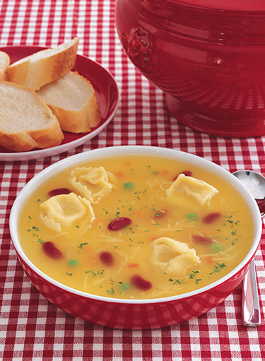 Beans with Cheese Tortellini Soup