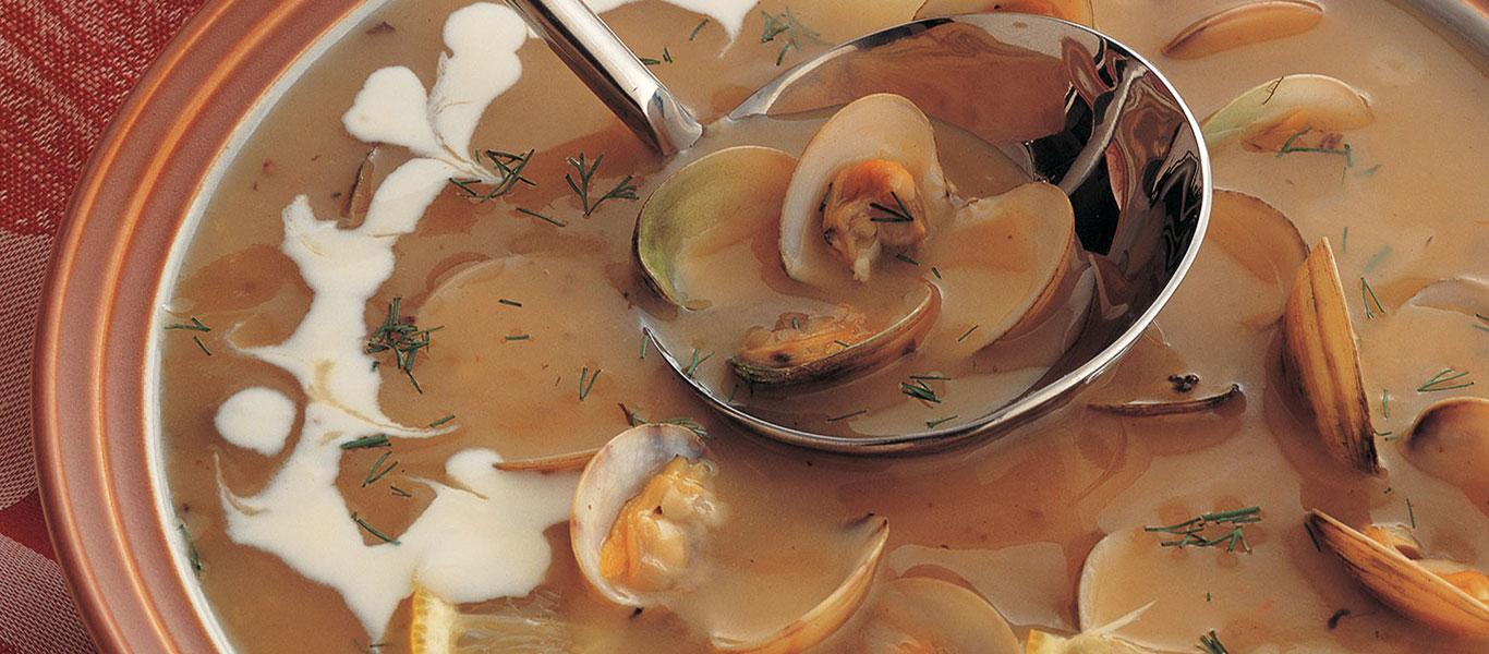 Clams and Mushroom Cream Soup