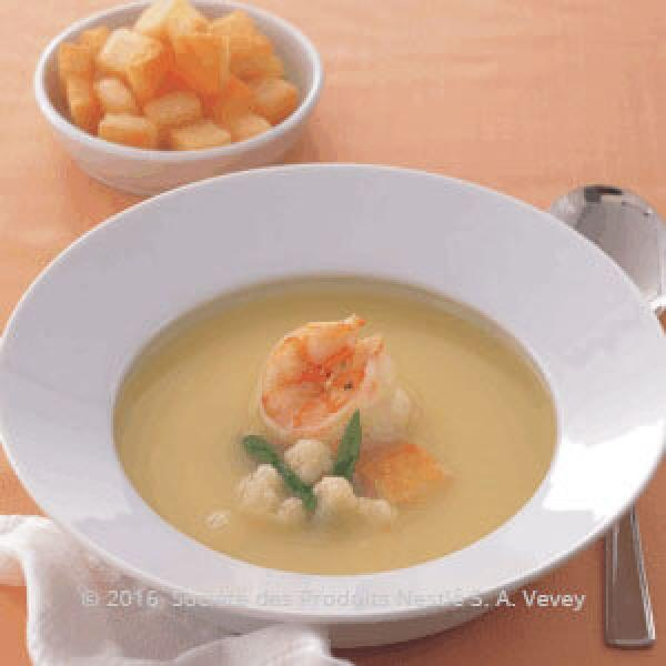 Shrimps and Cauliflower Soup