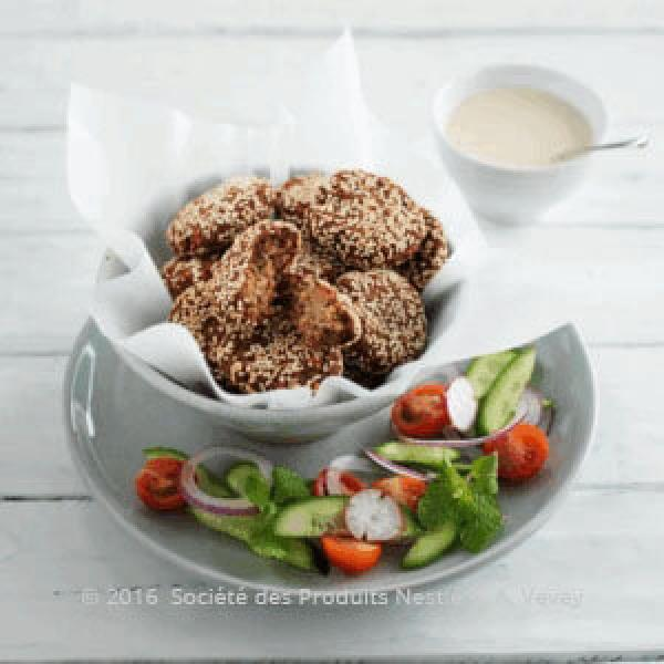 Chick Pea and Walnut Falafel