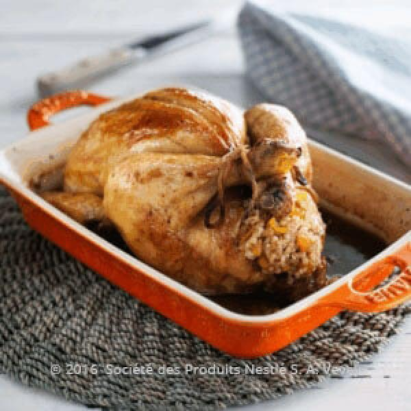 Roasted Chicken Stuffed with Harees