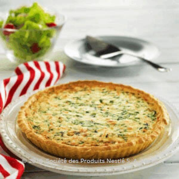 Spicy Crab & Spinach Tart