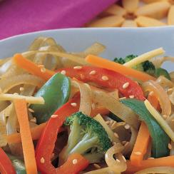 Green Tea Noodles with Vegetables