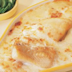 Fish with Béchamel and Egg Sauce