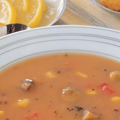 Mushroom with Tomato and Corn Soup