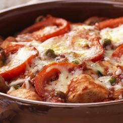Chicken Rigatoni Bake with Garden Vegetables