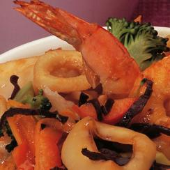 Thai Style Stir Fried Seafood