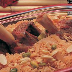 Saudi Rice with Meat - Meat Zurbian