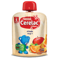 Nestle CERELAC Fruits Puree Pouch 6 Fruits 90g