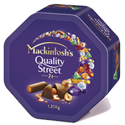 MACKINTOSH'S® QUALITY STREET® Chocolate Tin 1.25kg