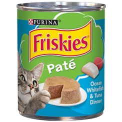 Friskies Wet Can Pate Ocean White Fish Cat Food 369g