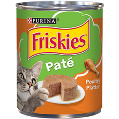 Friskies Wet Can Pate Poultry Platter Cat Food 369g