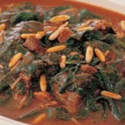 Saudi Spinach and Meat Stew