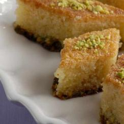 Basbousa with Pistachio