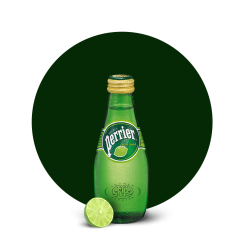 Perrier Sparkling Water, Lime, 200ml Glass Bottle