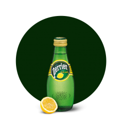 Perrier Sparkling Water, Lemon, 200ml Glass Bottle
