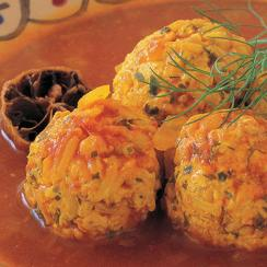 Chicken Balls with Tomato and Saffron