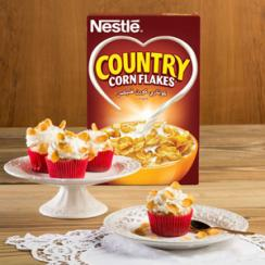 Country Corn Flakes® Cupcakes with Vanilla Cream