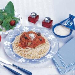 Spaghetti with Lamb and Vegetables