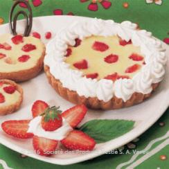 White Chocolate and Strawberries Tart