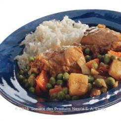 Chicken Curry and Green Peas Stew